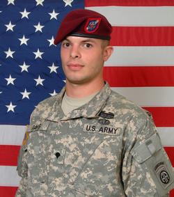 Cpl. Brad A. Davis, 82nd Spt BN, 3rd BDE, 82nd ABN (2/505th PIR) 04-22-09 Baghdad, Iraq